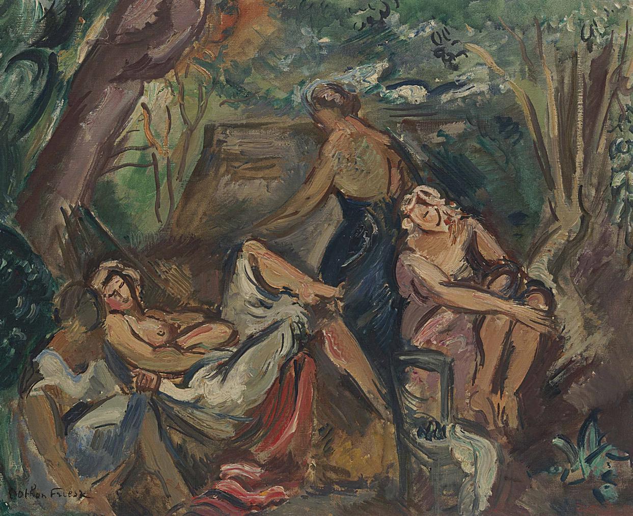 Othon Friesz-Femmes Dans Une Calanque-