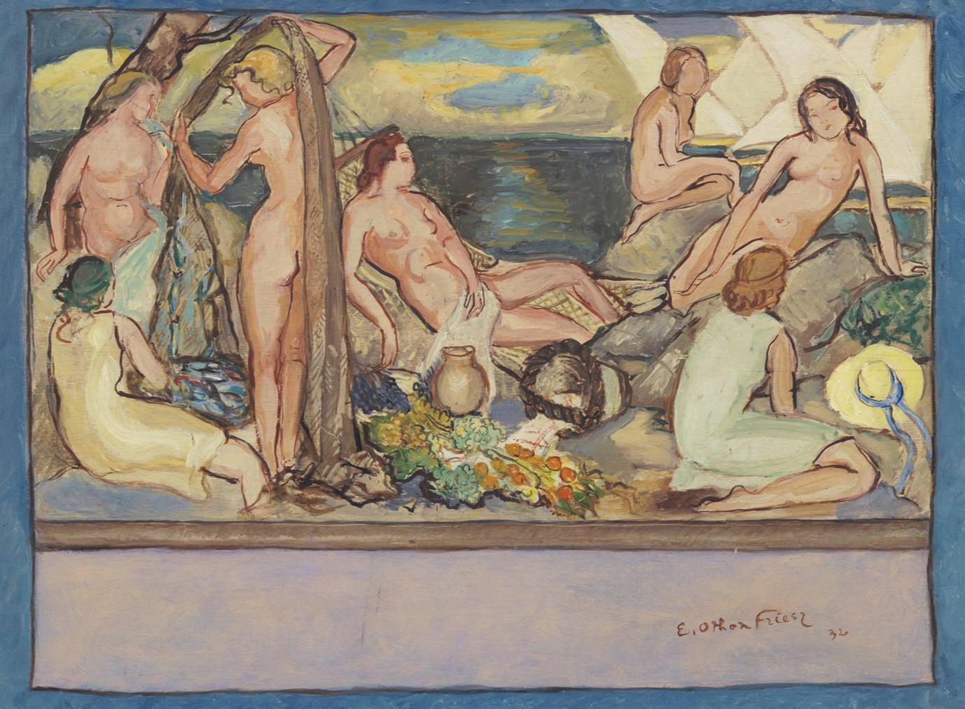 Othon Friesz-Les Baigneuses-1932