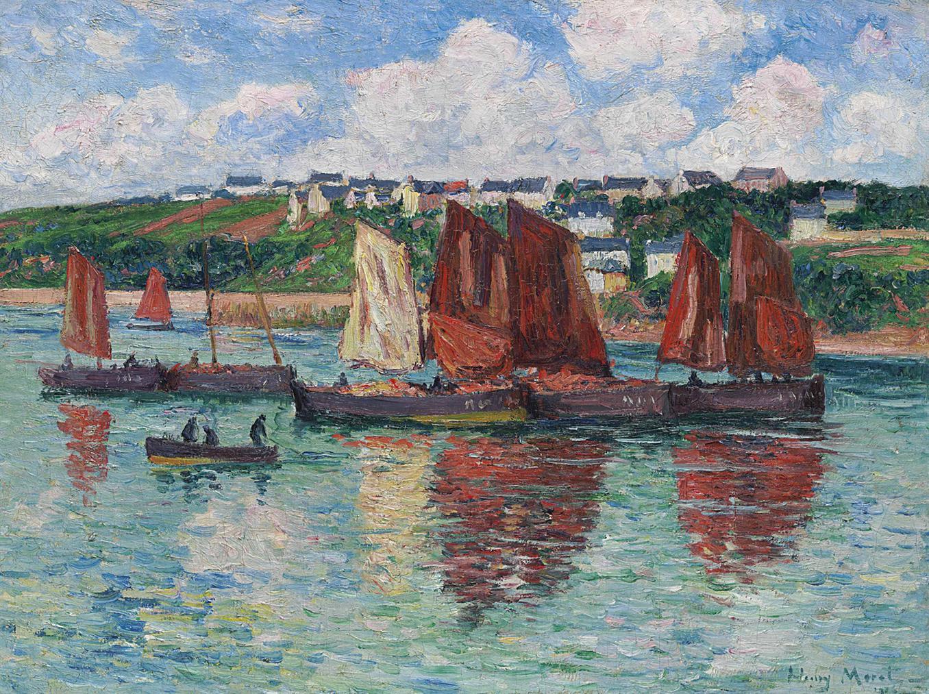 Henry Moret-Les Bateaux De Peche A Audierne-1905