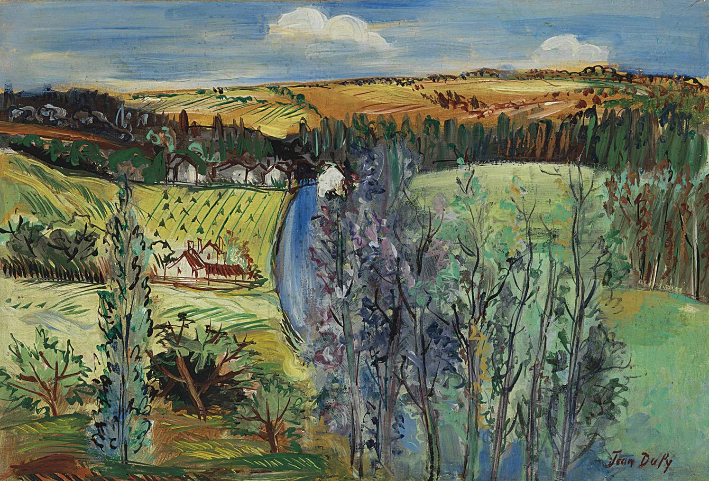 Jean Dufy-Environs De Boussay-1942