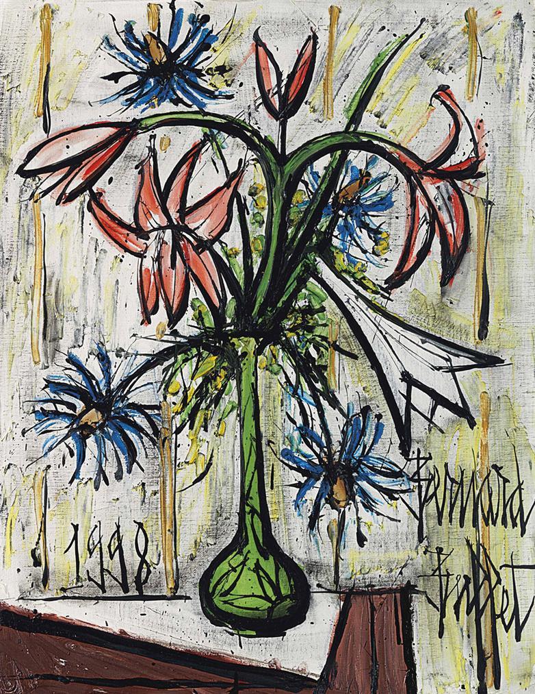 Bernard Buffet-Bouquet Dans Un Vase De Galle-1998