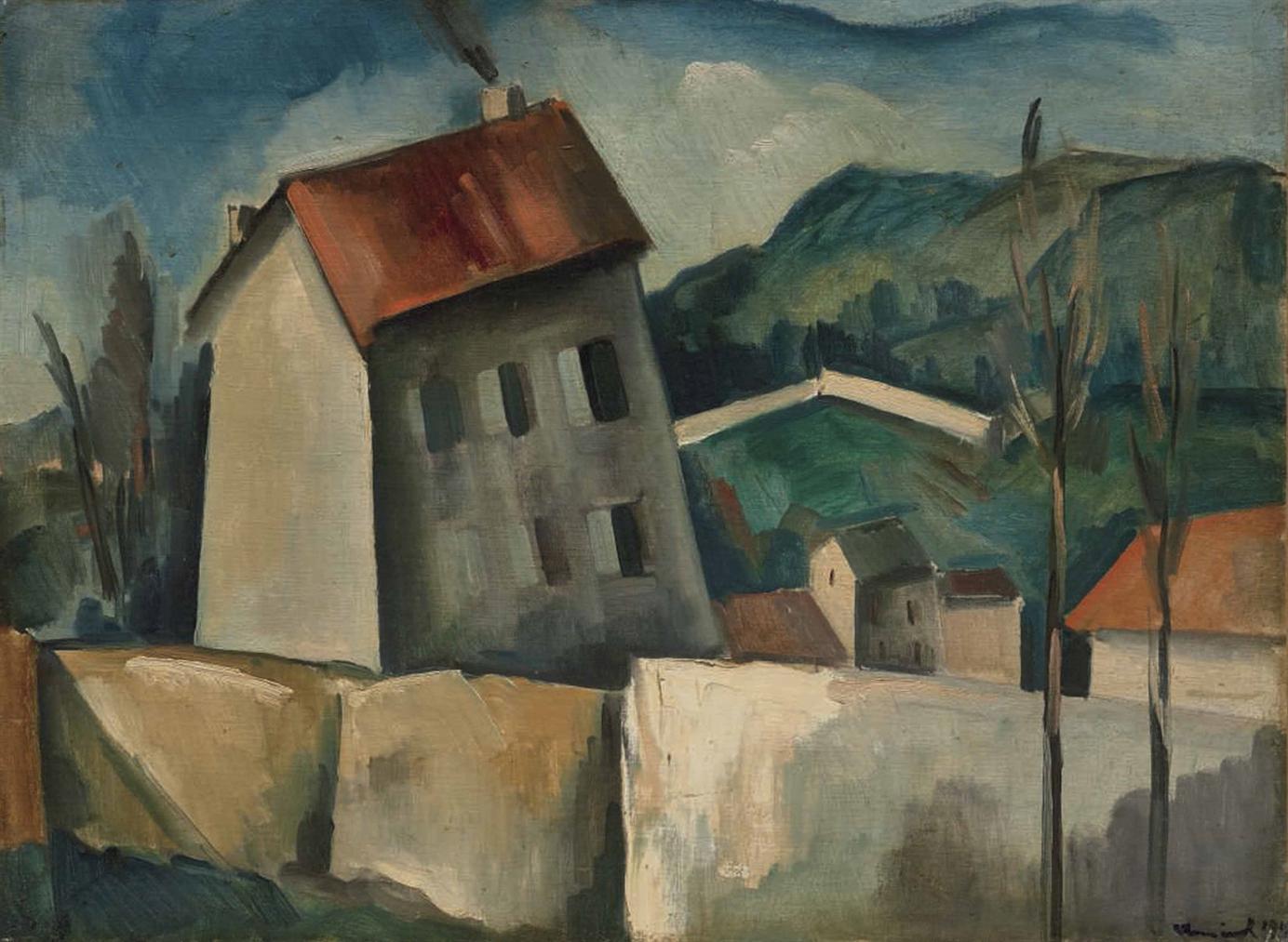 Maurice de Vlaminck-La Maison Grise A Saint Michel, Pres De Bougival-1914