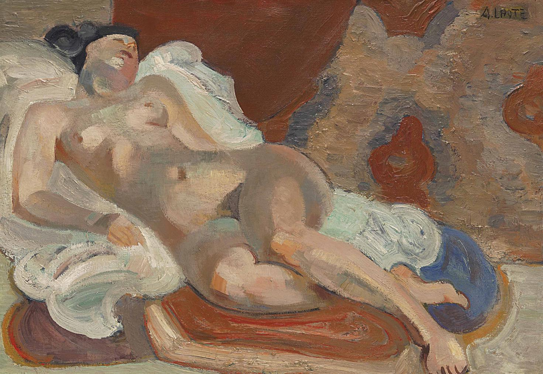 Andre Lhote-Nu Allonge Dans Latelier-1933