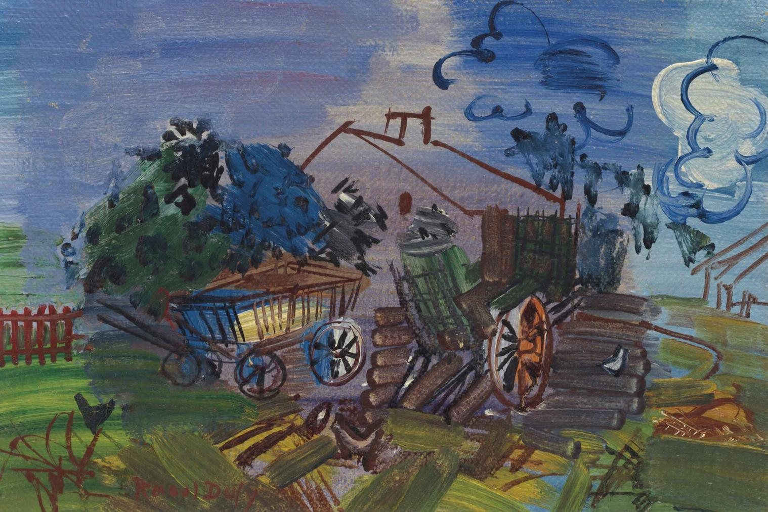 Raoul Dufy-Cour De Ferme-1946