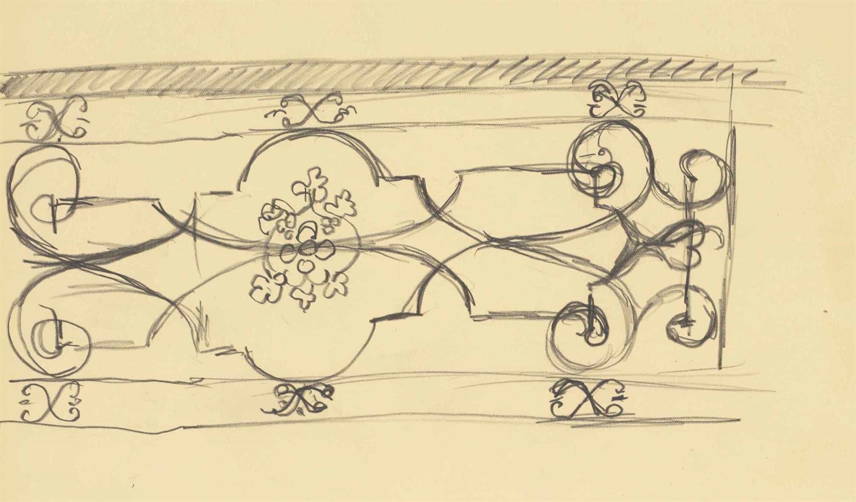 Henri Matisse-Motif Ferronnier-