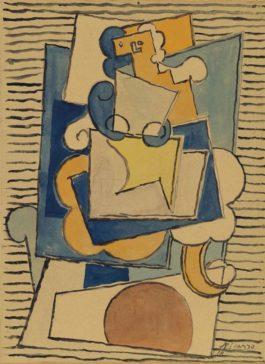 Pablo Picasso-Femme Dans Un Fauteuil-1918
