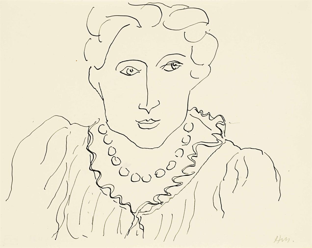 Henri Matisse-Femme Au Collier-1936