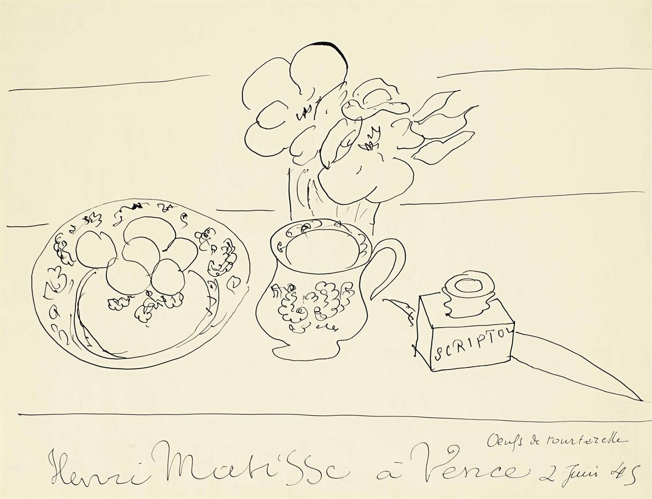 Henri Matisse-Oeufs De Tourterelle-1945