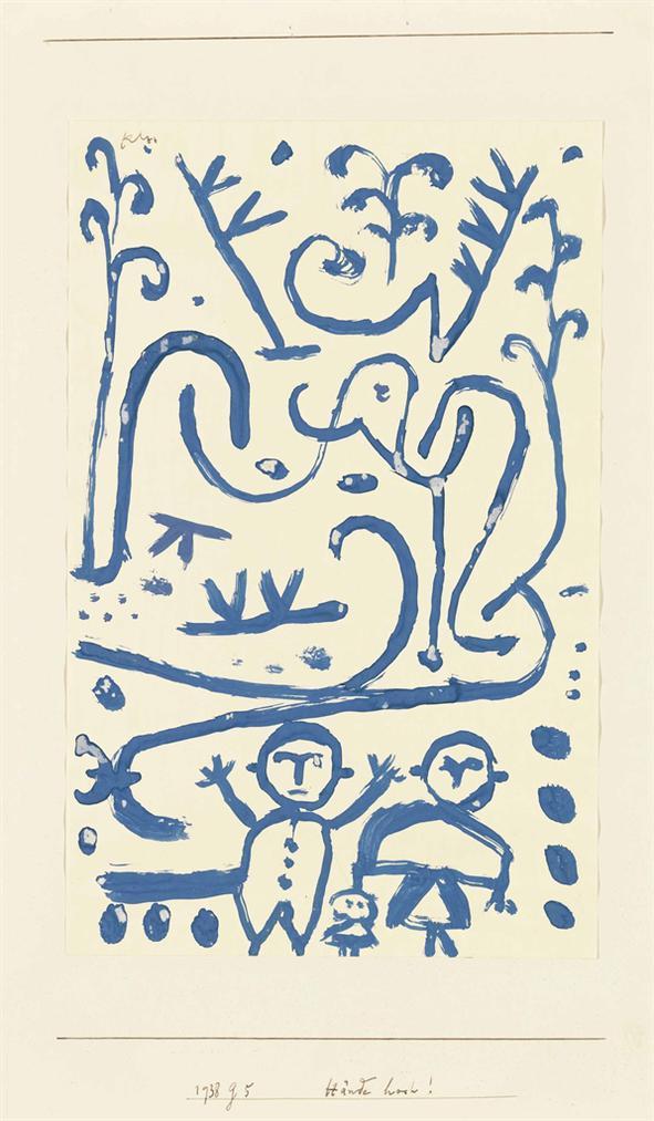 Paul Klee-Hande Hoch!-1938