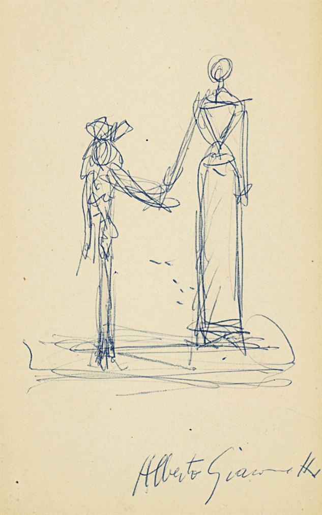 Alberto Giacometti-Mere Et Fille-1955