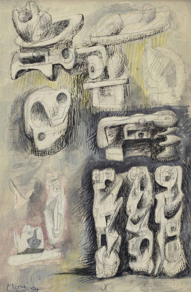Henry Moore-Ideas For Sculpture-1937