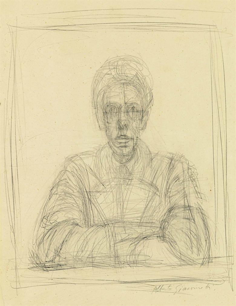 Alberto Giacometti-Autoportrait Dapres La Photographie Dirving Penn (1950)-1950