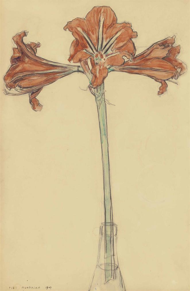 Piet Mondrian-Amaryllis-