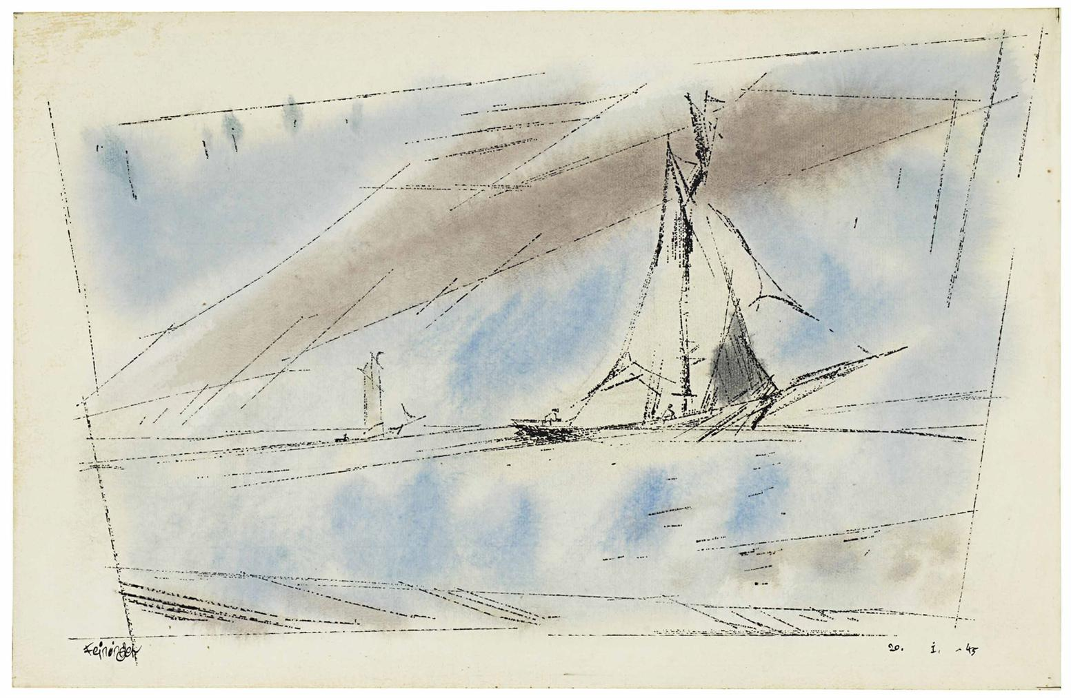 Lyonel Feininger-Fishing Shack-1945