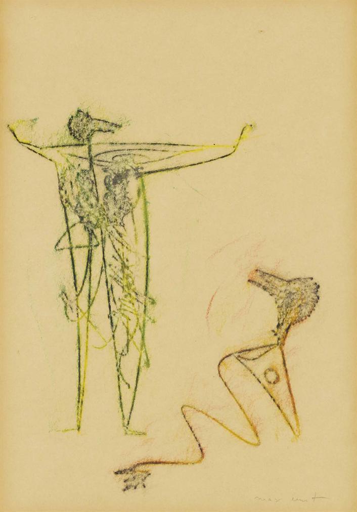 Max Ernst-Deux Hommes Oiseaux-1950