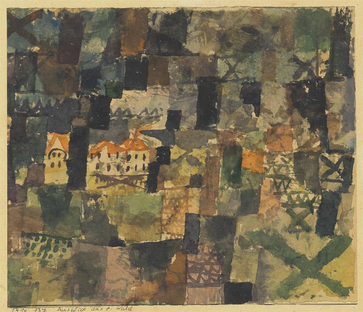 Paul Klee-Ausblick Aus E. Wald-1914