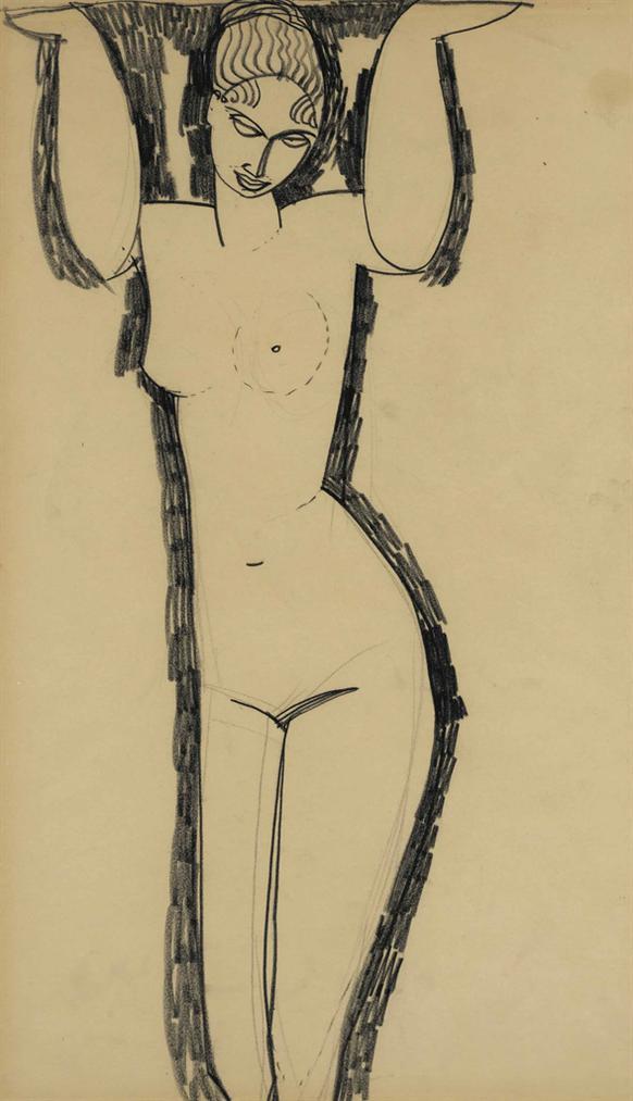 Amedeo Modigliani-Cariatide-1911