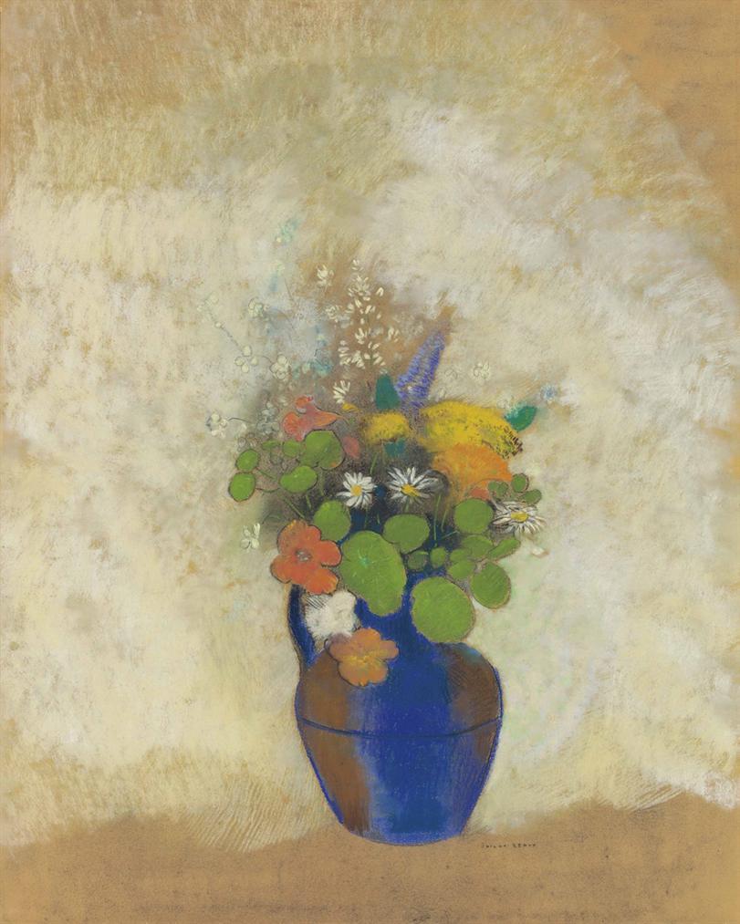 Odilon Redon-Fleurs Dans Un Vase-1905