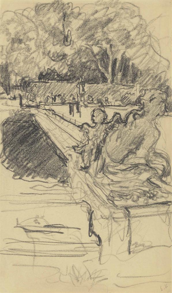 Edouard Vuillard-Le Parterre Deau Du Chateau De Versailles-1925