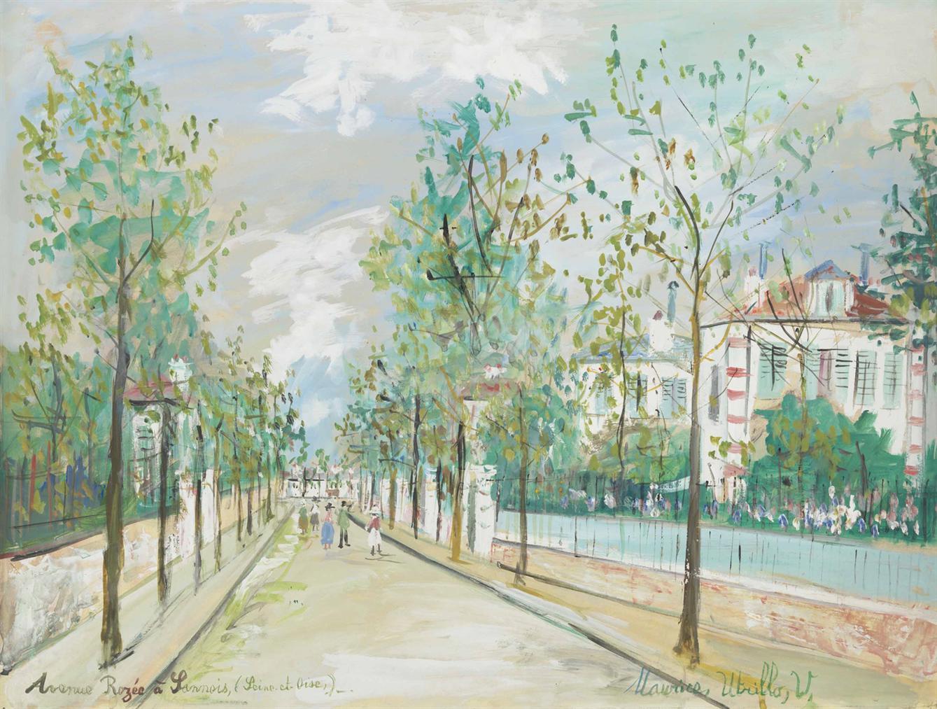 Maurice Utrillo-Avenue Rozee, Sannois (Val-Doise)-1938