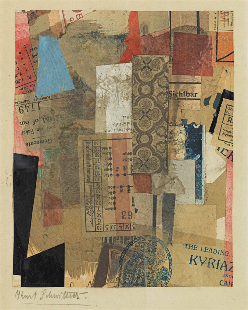 Kurt Schwitters-Ohne Titel (Sichtbar)-1928