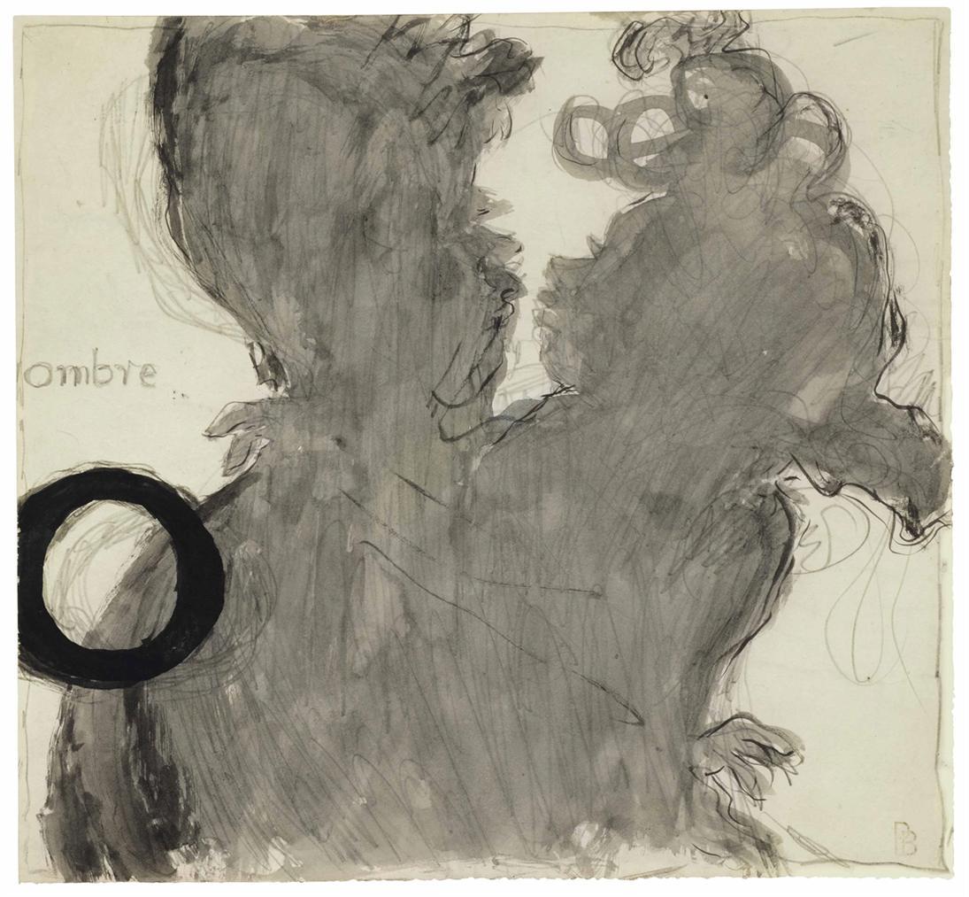 Pierre Bonnard-O, Ombre (Dessin Pour Un Alphabet Sentimental)-1893