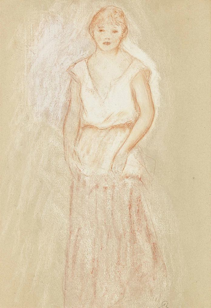Pierre-Auguste Renoir-Jeune Fille Debout-1890