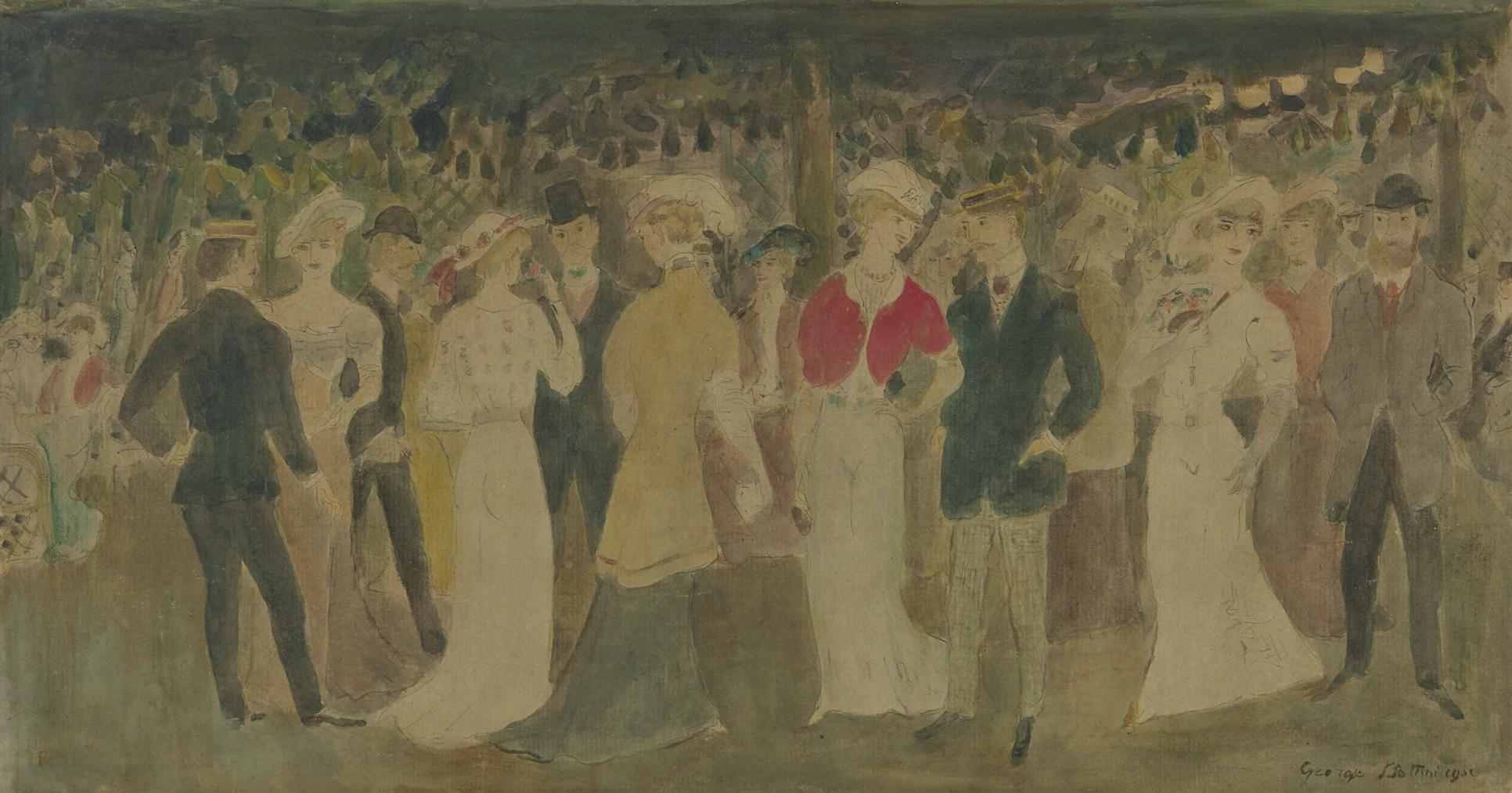 Georges Bottini-Au Jardin De Paris-1902