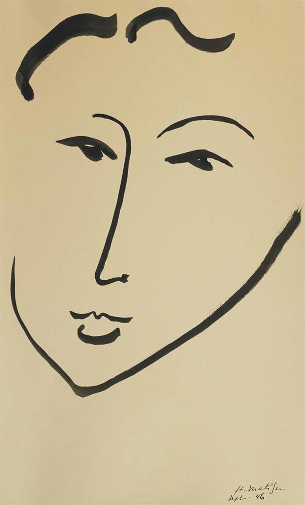 Henri Matisse-Tete De Femme-1946
