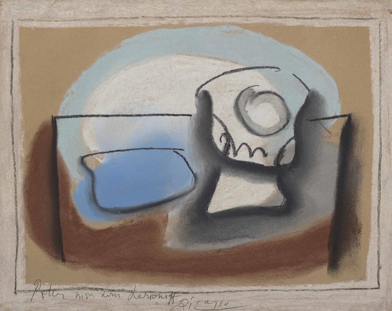 Pablo Picasso-Verre Et Paquet De Tabac-1922