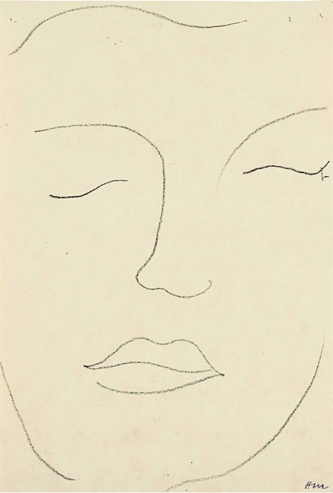 Henri Matisse-Visage (Claude Duthuit)-1951