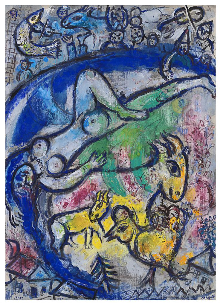 Marc Chagall-Nu Allonge-1957