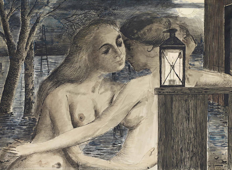 Paul Delvaux-Les Filles De Leau-1966