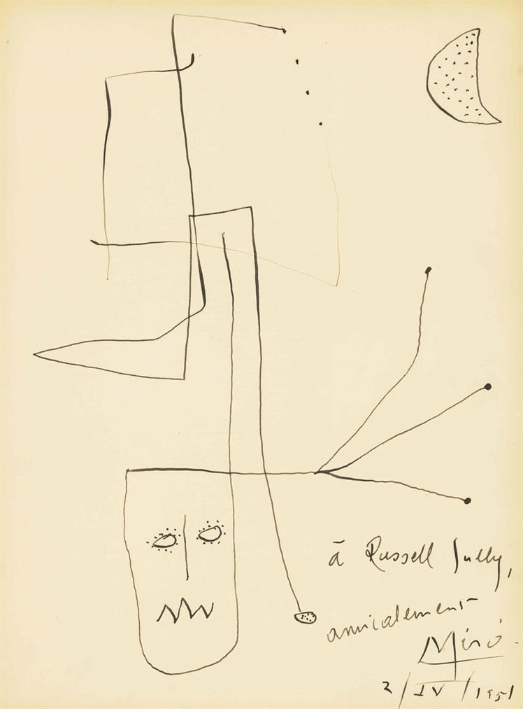 Joan Miro-Sans Titre-1951