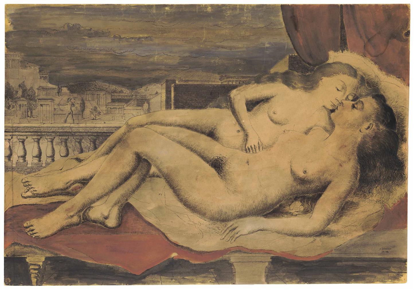 Paul Delvaux-Les Deux Amies-1943