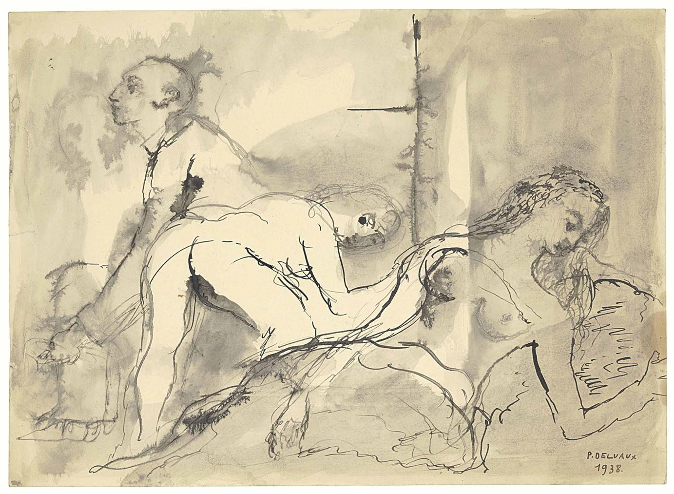 Paul Delvaux-Le Visiteur-1938