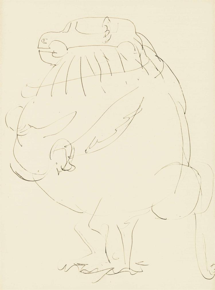 Pablo Picasso-Le Babouin-1950