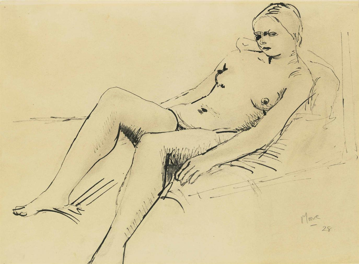 Henry Moore-Reclining Nude-1928