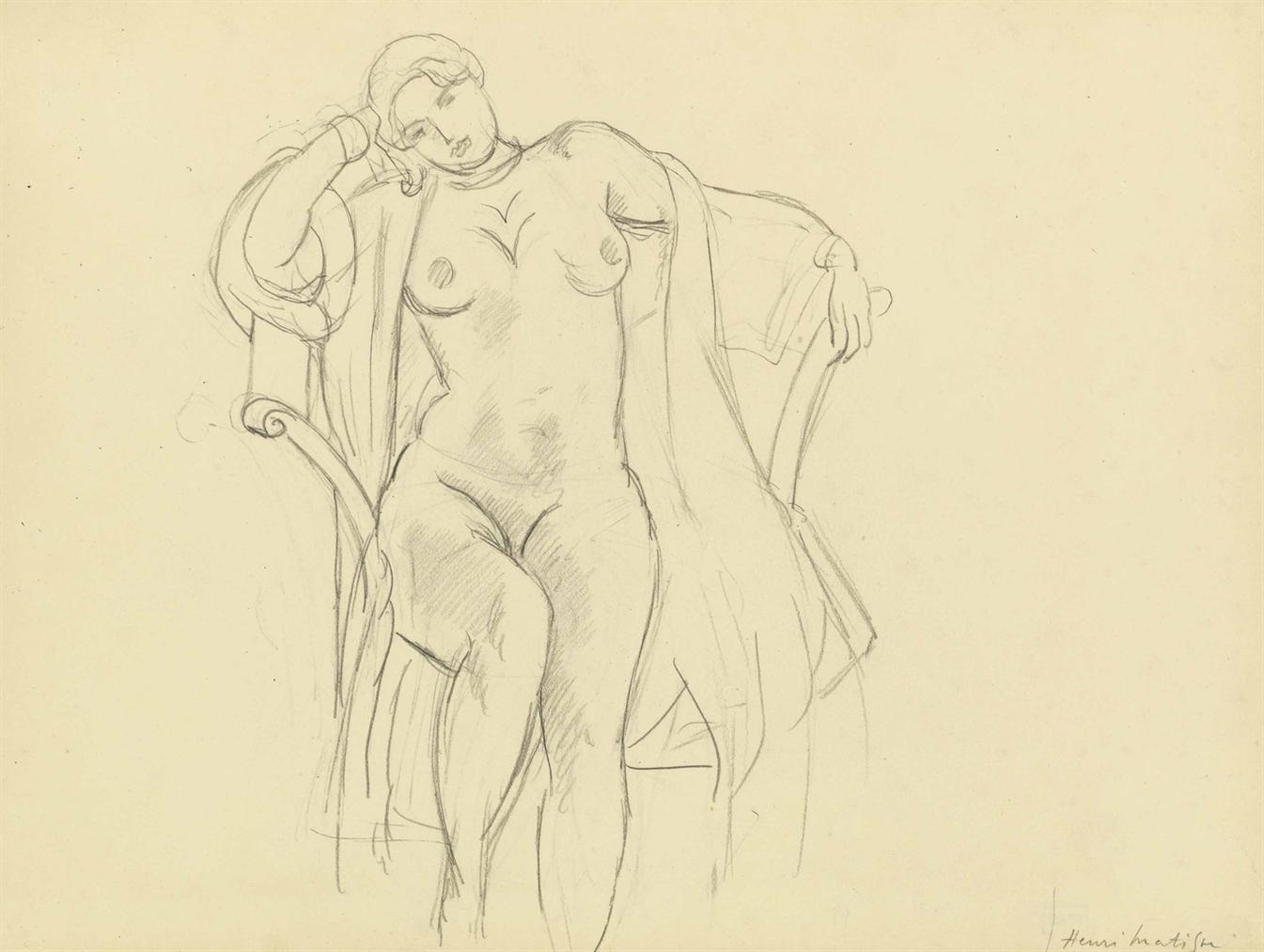 Henri Matisse-Nu Assis-