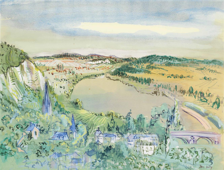 Jean Dufy-La Bouille (Seine-Maritime)-