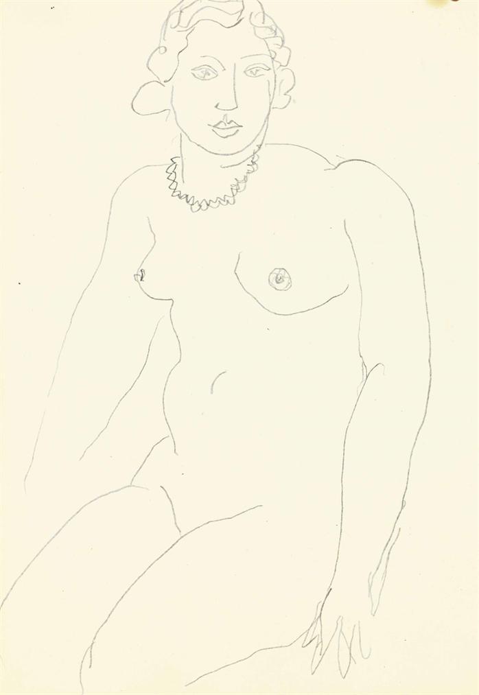 Henri Matisse-Nu Assis-1936