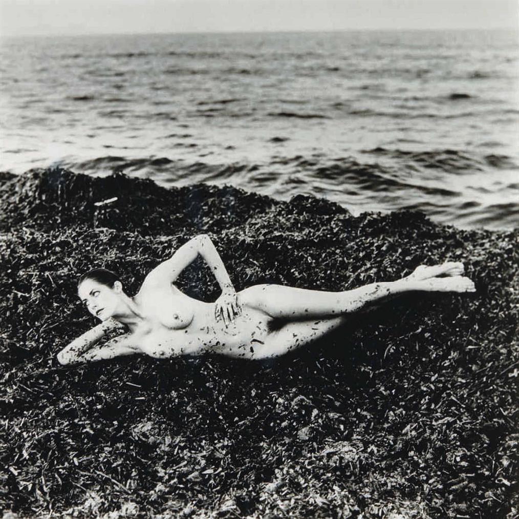 Helmut Newton-Nude On Seaweed, Saint Tropez-1984