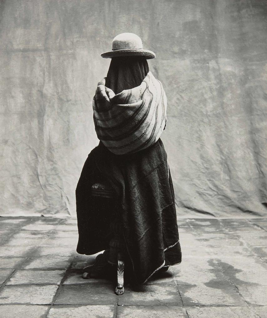 Irving Penn-Girl In A Manta, Cuzco, Peru-1948