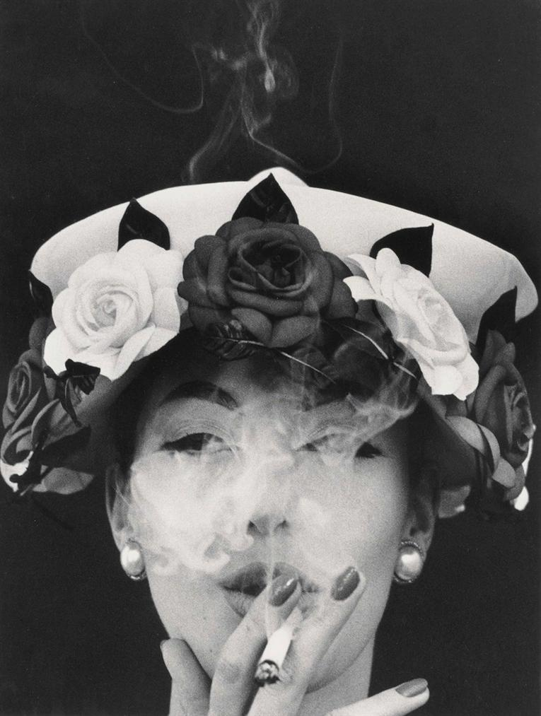 William Klein-Hat + Five Roses-1956