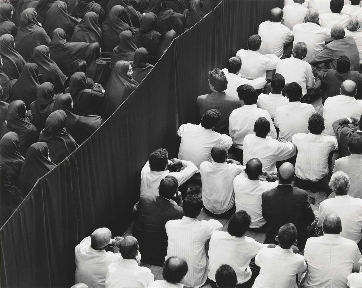 Shirin Neshat-Fervor Series (Crowd From Back, Close Up)-2000