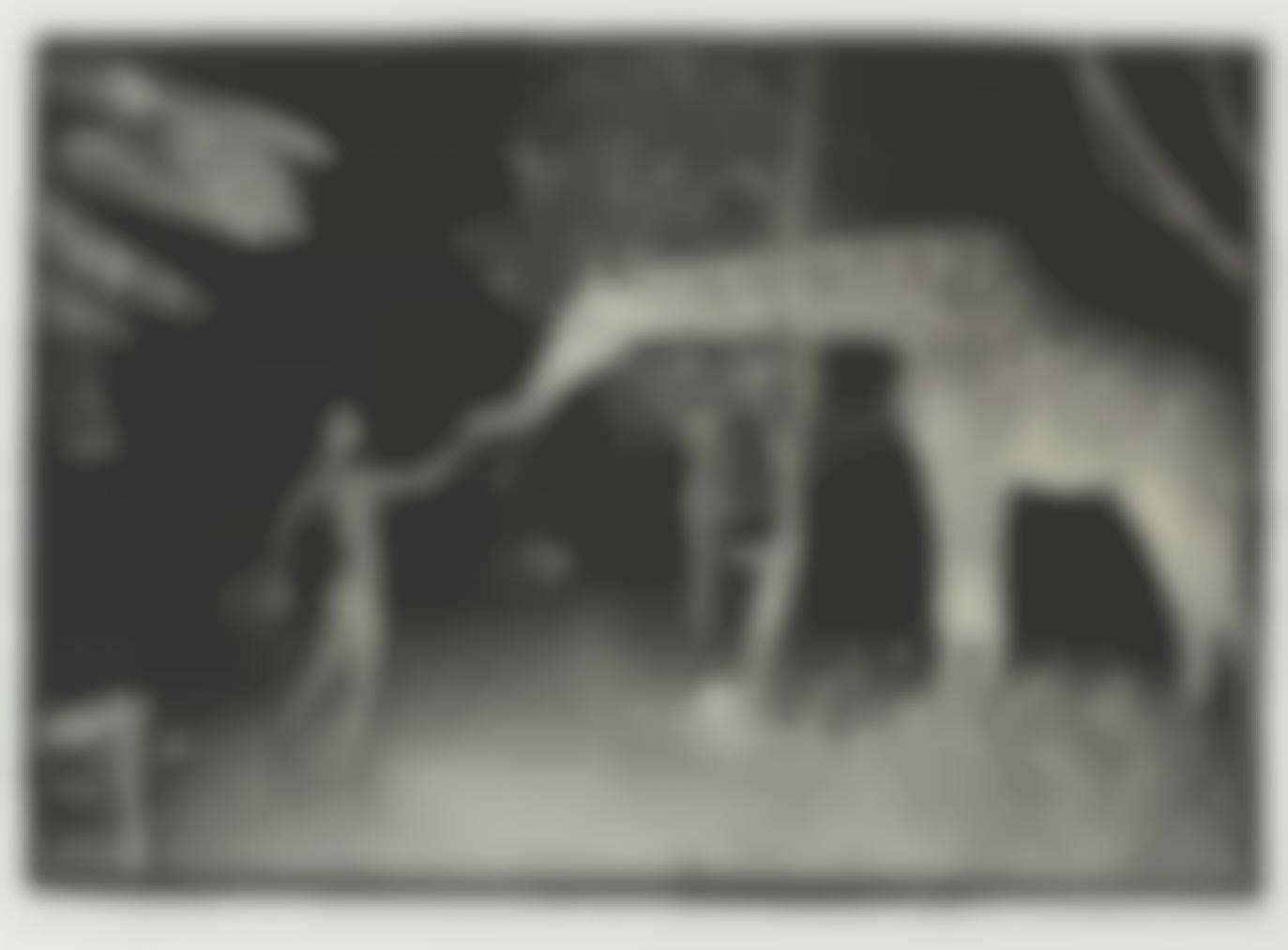 Peter Beard-Maureen Gallagher And A Night Feeder At Hog Ranch For Last Word From Paradise, Feb. 1987-1987