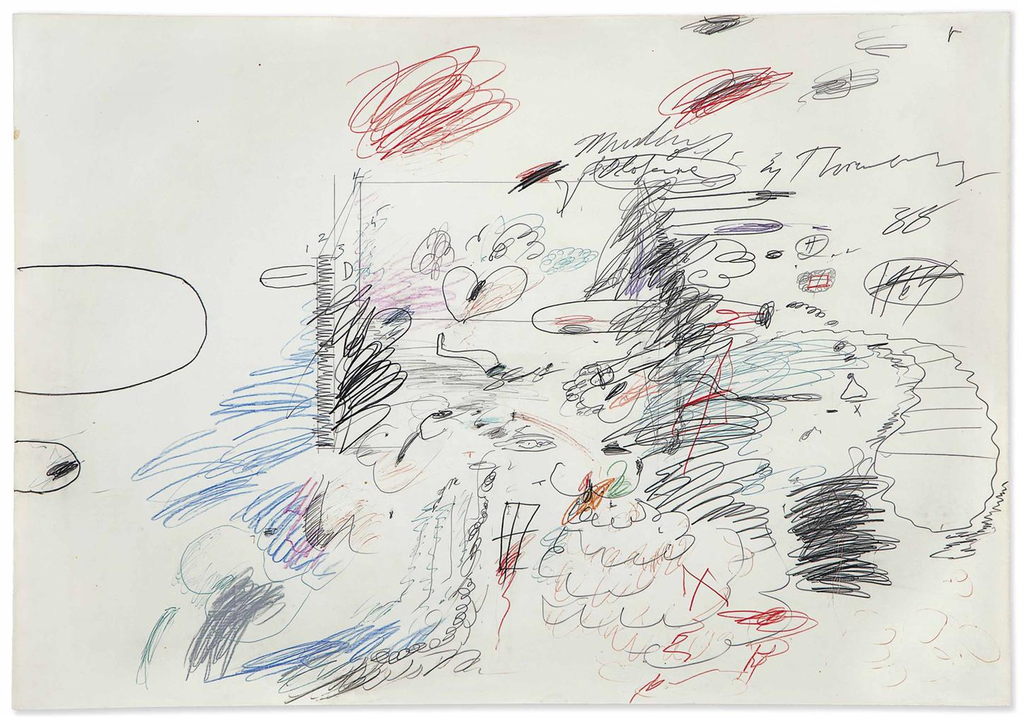 Cy Twombly-Untitled (Murder Of Olofernes)-1964