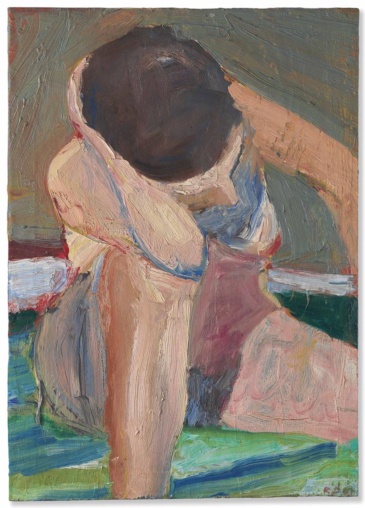 Richard Diebenkorn-Nude-Elbow On Knee-1961