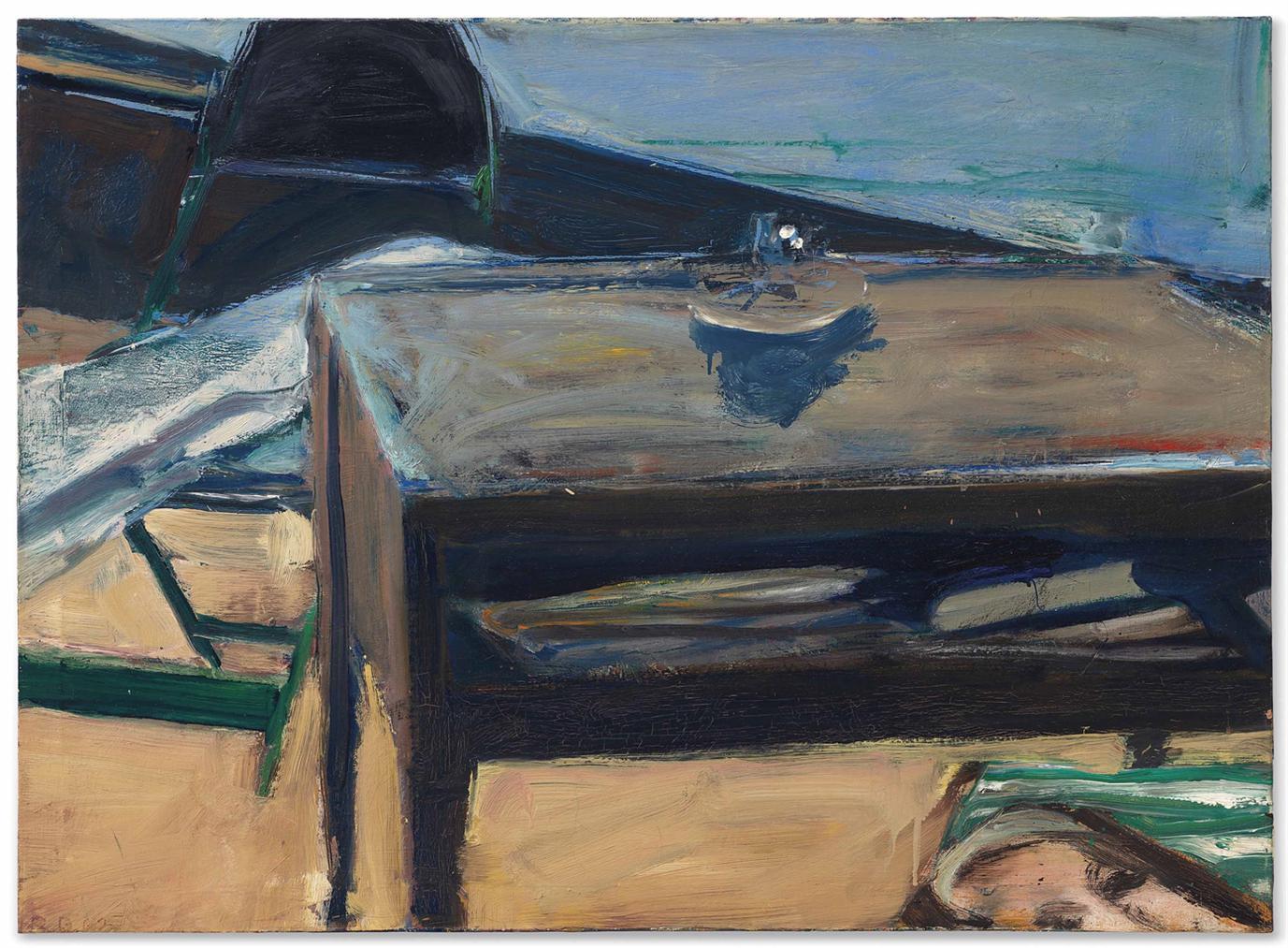 Richard Diebenkorn-Table And Folding Chair-1962