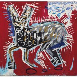 Jean-Michel Basquiat-Red Rabbit-1982